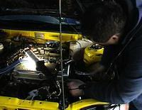 +020713 18 Proton being repaired Heat 1 Coopers SA Rally