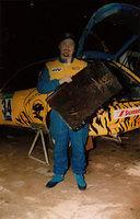 +Doug and his radiator damaged by a twig SA ARC Round 2002